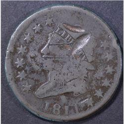1811 LARGE CENT, VG damaged