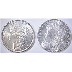 1886 & 89 BU MORGAN DOLLARS