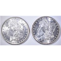 2-BU 1890 MORGAN DOLLARS
