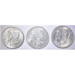 3-AU/BU 1921 MORGAN DOLLARS