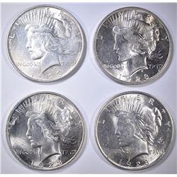 4-UNC 1923 PEACE DOLLARS