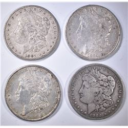 4-AVE CIRC MORGAN DOLLARS