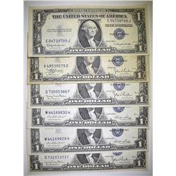$1.00 SILVER CERTIFICATE LOT: