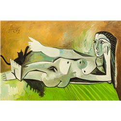 Pablo Picasso Spanish Oil on Canvas Nude Portrait