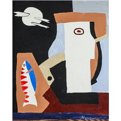Louis Marcoussis French Cubist Oil on Canvas