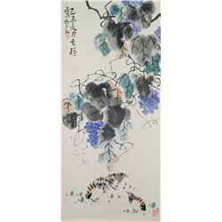 Li Kuchan 1899-1983 Chinese Watercolor Flower
