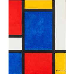 Piet Mondrian Dutch De Stijl Oil on Canvas