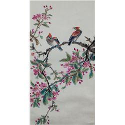Wang Xuetao 1903-1982 Chinese Watercolor Scroll