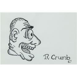 "Robert Crumb American Pop Ink on Paper ""67"""