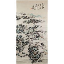 Huang Binhong 1865-1955 Chinese Watercolor Scroll