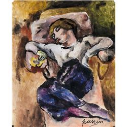 Jules Pascin French Expressionist Tempera on Paper