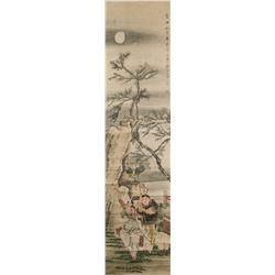 Qian Huian 1833-1911 Chinese Watercolor Boys