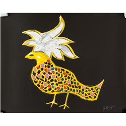 Georges Braque French Cubist Mixed Media Pheonix