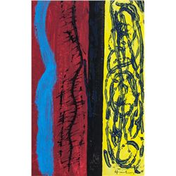 Hans Hartung French-German Abstract Oil on Canvas
