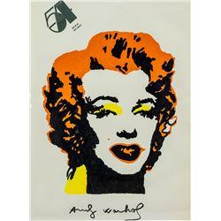 Andy Warhol American Pop Art Gouache Monroe