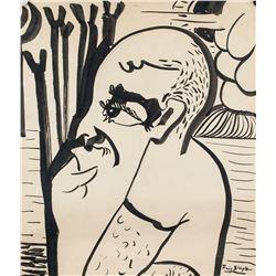 Fritz Bleyl German Expressionist Mixed Media Paper