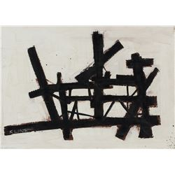 Franz Kline American Abstract Oil Hauser & Orchard