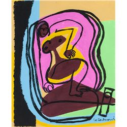 Le Corbusier French Modernist Oil on Canvas