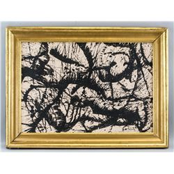 Jackson Pollock American Abstract Oil on Canvas
