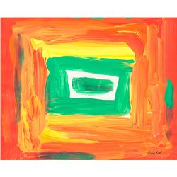 Howard Hodgkin British Abstract Oil on Canvas