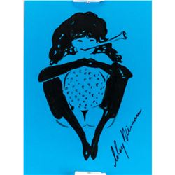 US Pop Art Ink Femlin Signed LeRoy Neiman