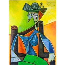 Pablo Picasso Spanish Cubist Oil Canvas Portrait