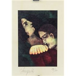 Marc Chagall French Surrealist Signed Litho 13/50