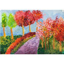Hans Purrmann German Expressionist Oil on Paper