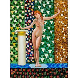 Galileo Chini Italian Art Nouveau Oil on Canvas