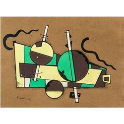 Wassily Kandinsky Russian Oil Gallery Label