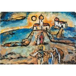 Georges Rouault French Fauvist Oil on Paper