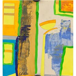 Maurice Esteve French Abstract Mixed Media Paper