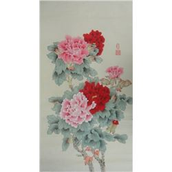 Chang Lu XX Chinese Watercolor on Paper Peony