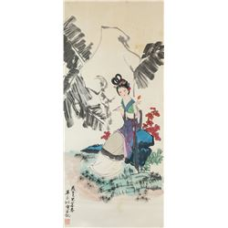 Hua Sanchuan 1930-2004 Chinese Watercolour Scroll