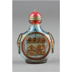 Chinese Blue Peking Glass Snuff Bottle