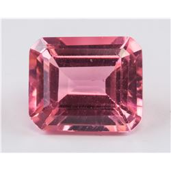 5.25 ct Yellow Pink Emerald Cut Alexandrite AGSL