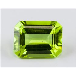 3.45 ct Green Lemon Emerald Cut Alexandrite AGSL