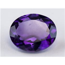 3.4 ct Purple Oval Cut Amethyst Gemstone