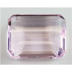 125.70 ct Emerald Cut Pink Amethyst AGSL
