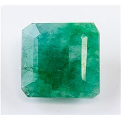 10.40 ct Green Emerald Cut Emerald Gemstone AGSL