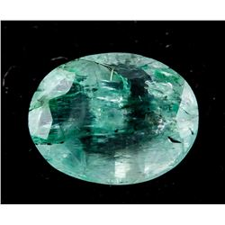 2.35 ct Green Oval Cut Emerald Gemstone AGSL