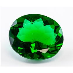98 ct Green Oval Cut Emerald Gemstone GGL