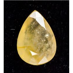6.00 ct Yellow Pear Cut Heliodor Beryl AGSL