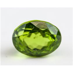 5.31 ct Green Oval Mixed Cut Peridot Certificate