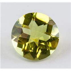 3.74 ct Green Gold Round Cut Quartz Gemstone