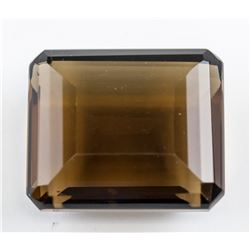 105.05 ct Smoky Emerald Cut Quartz Gemstone AGSL