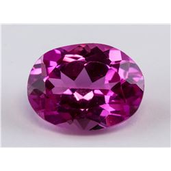 4.63 ct Pink Oval Cut Ruby Gemstone
