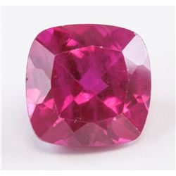 6.70 ct Pinkish Red Cushion Cut Ruby Gemstone AGSL