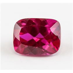 7.15 ct Pinkish Red Cushion Cut  Ruby AGSL