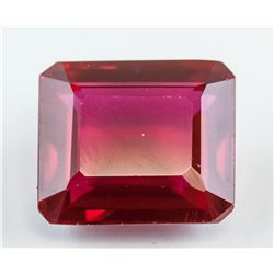 15.15 ct Emerald Cut Red Ruby Gemstone AGSL